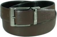Reven Men Formal Black Genuine Leather Reversible Belt Bali-Black And Brown