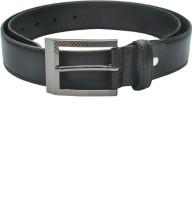 Pacific Gold Men Formal Black Genuine Leather Belt Black
