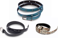 Victoria Secret Women Black, Blue, Brown Artificial Leather Belt Blue, Black, Brown