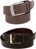 Calibro Boys, Men Formal, Casual Black, Brown Texas Leatherite Belt Black, Brown