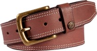 Fastrack Men Casual Brown Metal, Genuine Leather Belt Brown