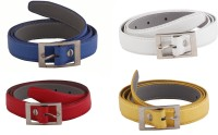 SRS Women Casual Blue, Red, White, Yellow Artificial Leather Belt RBlue-Red-White-Yellow-24