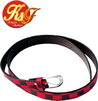 Kshipra Fashion Girls, Women Casual, Party, Formal, Evening Red, Black Artificial Leather Belt Black