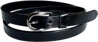 Manshkhino Women Formal Black Genuine Leather Belt (BLK)