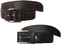 Winsome Deal Men Formal, Casual Black, Brown Artificial Leather Belt Black, Brown