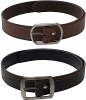 SkyWays Men Casual Brown, Brown Artificial Leather Belt Brown-02