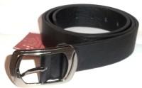Kasaidi Men, Boys Black Texas Leatherite Belt Black