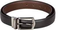 Chisel Men Formal Black Artificial Leather Reversible Belt (Black)