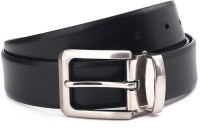 Woodland Men Brown, Black Genuine Leather Reversible Belt Black And Brown