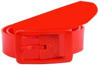 Colorful Belts Women Casual Red Synthetic Reversible Belt Red-3