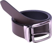 Multibrand Men Formal Black Genuine Leather Reversible Belt Black