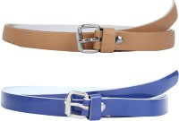 SRS Women Casual Beige, Blue Synthetic Belt Beige, Blue