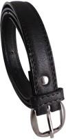 Elligator Women Casual, Formal, Party Black Artificial Leather Belt Black-01