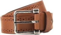 U.S. Polo Assn. Men Brown Genuine Leather Belt Light Brown