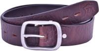 Bonafide Leathers Men Casual Brown Genuine Leather Belt Brown-138