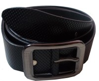 Swan Collection Men, Boys Black Artificial Leather Belt Dark Tan