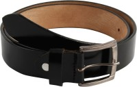 Mustard Men Formal Black Genuine Leather Belt Black