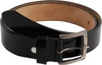 Mustard Men Formal Black Genuine Leather Belt Black