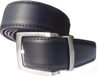 Generic Men Semi-formal Black Artificial Leather Reversible Belt Black And Brown
