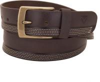 VALBONE Men Casual Brown Genuine Leather Belt Leather Brown