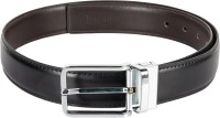 Chisel Men Formal Black Artificial Leather Reversible Belt Black