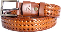 Karlsburg Men Casual, Formal Brown Genuine Leather Belt Light Brown