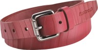 Fastrack Women Casual Red Genuine Leather, Metal Belt Red