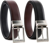 YOURS LUGGAGE Men, Boys Casual, Party, Formal, Evening Black, Brown Genuine Leather, Artificial Leather Reversible Belt BLACK, BROWN