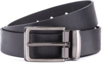 Ruchiworld Boys, Men Formal Black Artificial Leather, Genuine Leather Belt Black