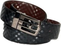 Ellis Men Formal Brown, Black Genuine Leather Reversible Belt Black, Brown