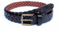 Tops Men, Women Casual Brown Genuine Leather Belt Brown