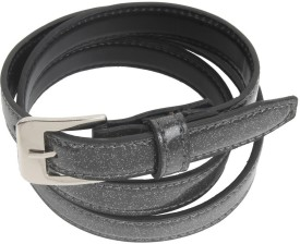 Honey Badger Women Casual Grey Texas Leatherite Belt