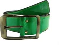 Opaque Men Casual Green Synthetic Belt Green