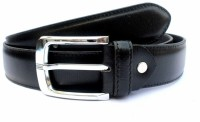 Tops Men Formal Black Genuine Leather Belt Black