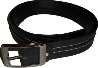 Kasaidi Men Black Texas Leatherite Belt Black