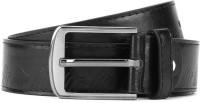 Mango People Men Black Genuine Leather Belt: Belt