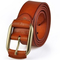 Kamyaart Men Red Genuine Leather Belt Red Color