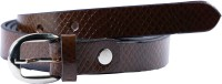 Global Leather Girls, Women Formal, Casual, Party, Evening Brown Genuine Leather Belt Dark Brown