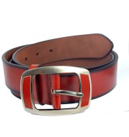 Ammvi Creations Men Casual Brown Synthetic Belt Rust Brown, Brown