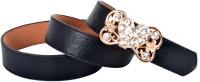 Vivaa Women Casual Black Artificial Leather Belt (Black)