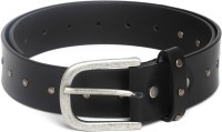 Mast & Harbour Men Casual Black Genuine Leather Belt BLACK