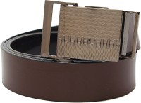 Banjara Men Casual Black, Brown Artificial Leather Reversible Belt Black