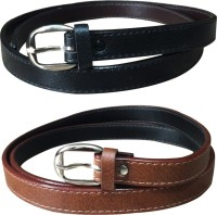 Verceys Women Casual Black, Tan, Brown Artificial Leather Belt Black, Tan, Brown