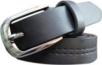 Winsome Deal Men Formal, Casual Black Artificial Leather Belt (Black)