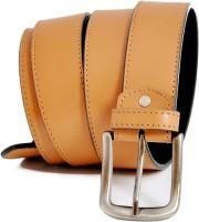 Stylox Men Casual Beige Genuine Leather Belt Beige-68