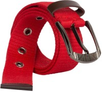 Arip Boys, Girls, Men, Women Casual, Formal Red Fabric Belt Red-14