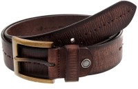 Hornbull Men Casual Brown Genuine Leather Belt (Dark Brown)