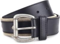 Fastrack Men Casual Black Genuine Leather, Metal Belt: Belt