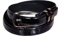 Swan Collection Girls, Women Casual, Formal Black Artificial Leather Belt 04BL