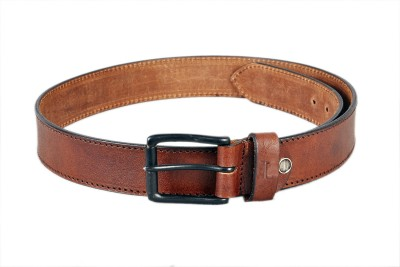 Ligans NY Men Casual Brown Genuine Leather Belt